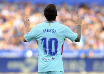 Messi double guides Barcelona past a resilient Alaves