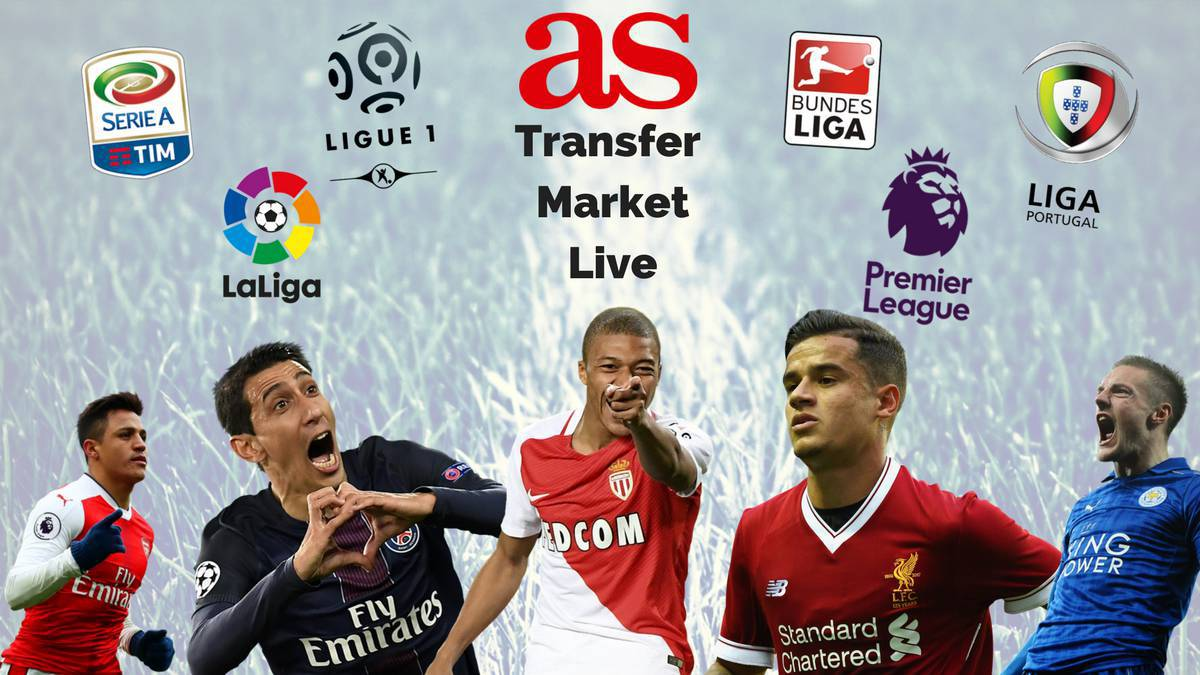 Transfer market live online: Thursday August 31 2017