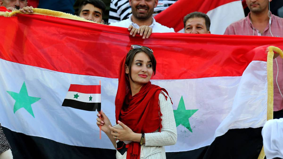 There were protest banners inside the stadium during the qualifier against Syria, with hackers demanding that women should be allowed to watch men's football.