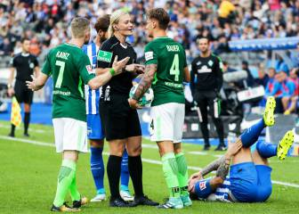 Steinhaus becomes first female ref in Europe's top leagues