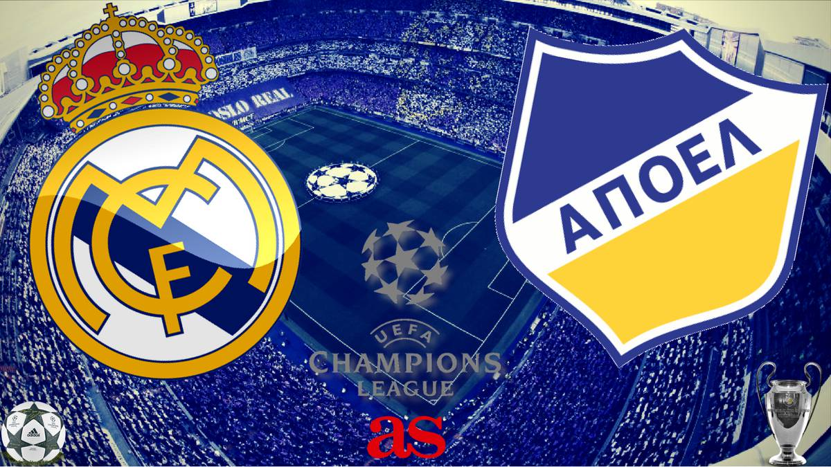 All the information you need on where and when to watch the Champions League clash at the Bernabeu as Real Madrid face APOEL on September 13 at 20:45 CEST.