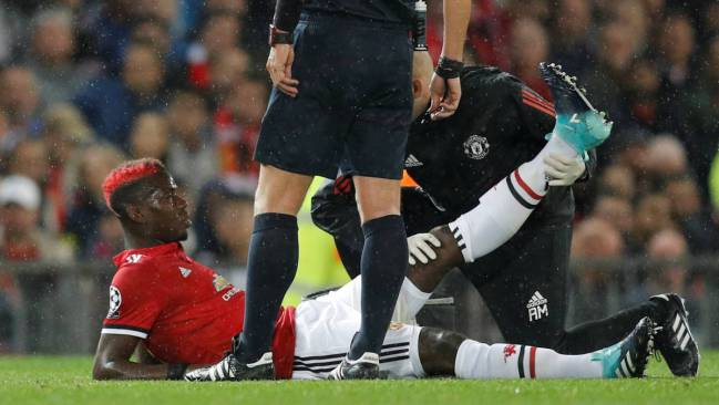 Pogba picked up a hamstring injury in the MatchDay 1 game against Basel