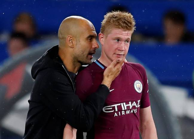 Manchester City manager Pep Guardiola pleased again with Kevin De Bruyne's performance.