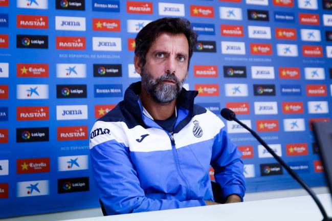 Quique Sánchez Flores | The Espanyol coach is aware that his side will have to be 'in their best moment' to compete with Zinedine Zidane's side at the Bernabéu.