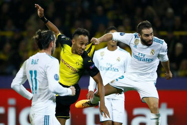 Real Madrid's Dani Carvajal featured in the win over Borussia Dortmund in the Champions League.