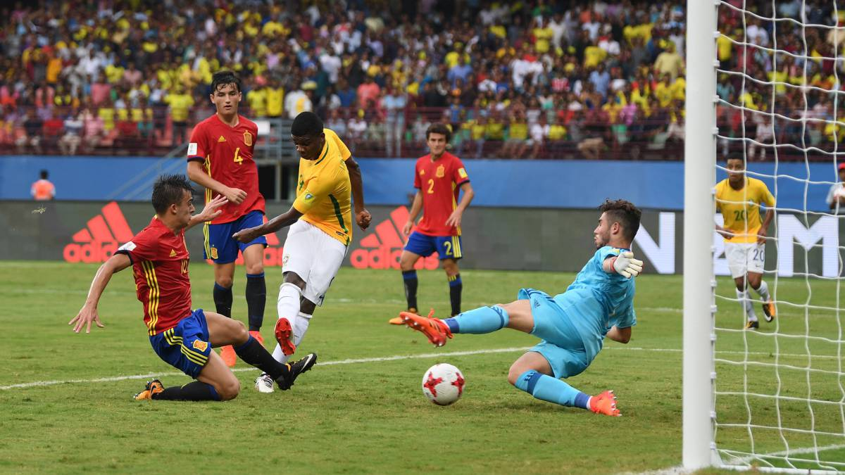 Brazil U-17 2-1 Spain U-17 FIFA U-17 World Cup India 2017: match report, goals, action
