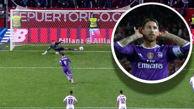 Sergio Ramos enjoyed this particular 'panenka' penalty against former club Sevilla.