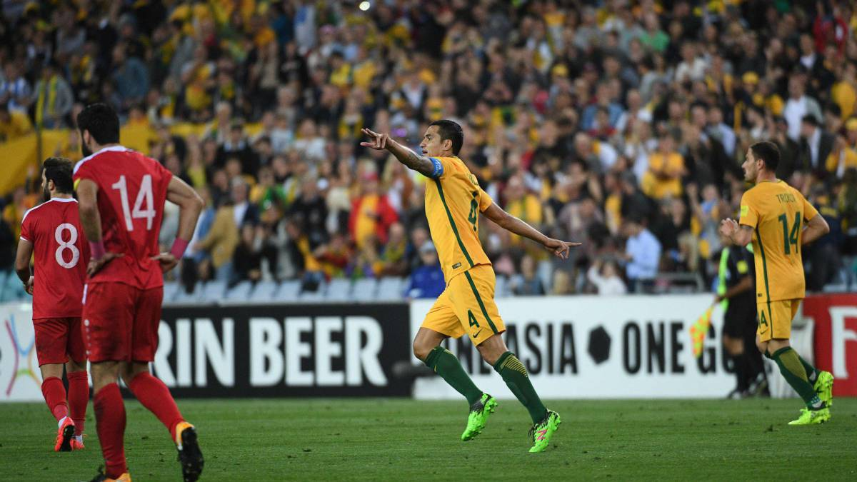 Tim Cahill under fire for sponsored goal celebration against Syria
