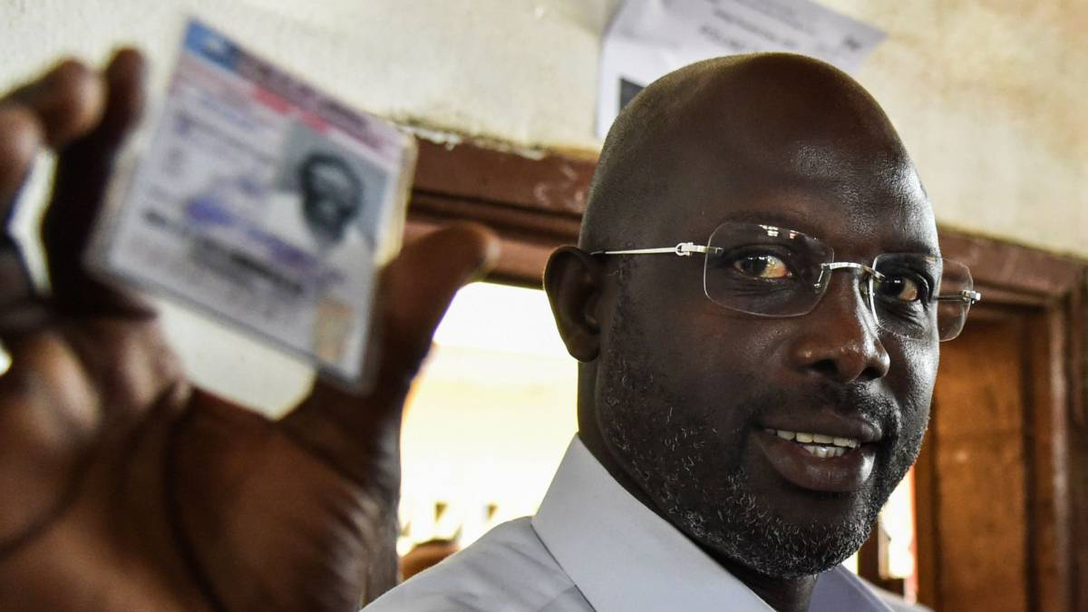 Weah awaits Liberia presidential vote