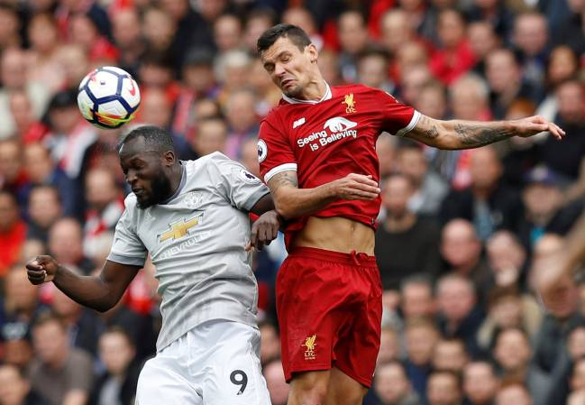 Manchester United's Romelu Lukaku was kept quiet by Dejan Lovren and the hard-working Liverpool side.