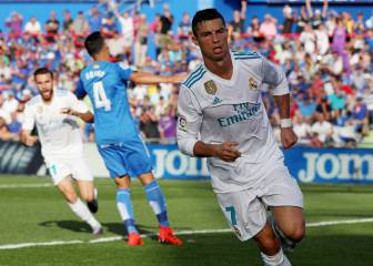 Ronaldo off the mark in LaLiga this season against Getafe