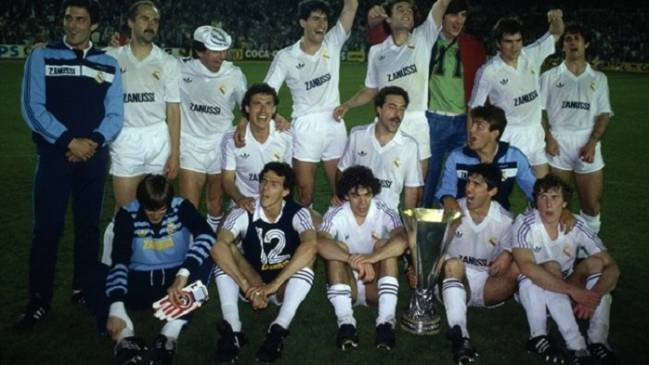 Real Madrid win the Uefa Cup 1985
