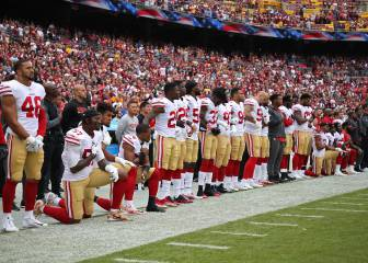 Niners kneel again as talks loom on protest controversy