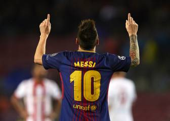 Messi hits 100th European goal in Barça win over Olympiacos