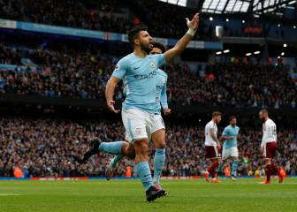 Agüero pen levels all-time scoring record at City