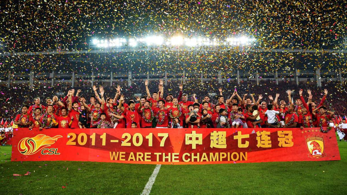 Scolari's Guangzhou wins seventh consecutive CSL title