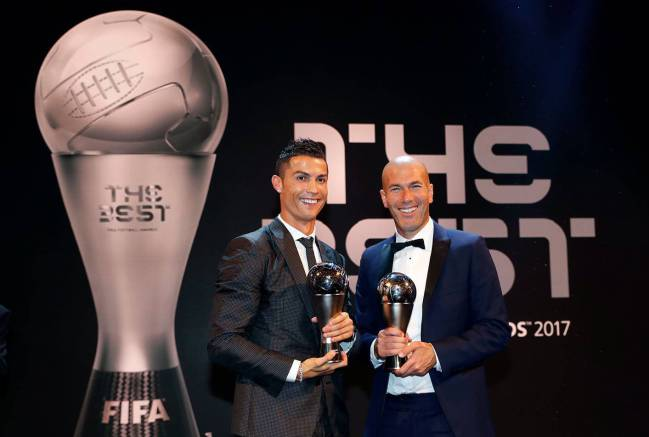 Cristiano Ronaldo After Winning The Best I Want Seven Individual
