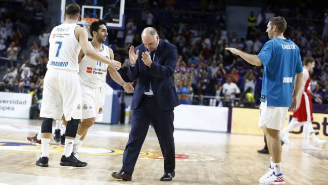 Real Madrid basketball team coach Pablo Laso