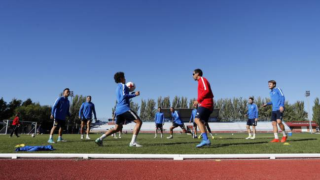 Fuenlabrada hard at work ahead of tonight's Cup clash with Real Madrid