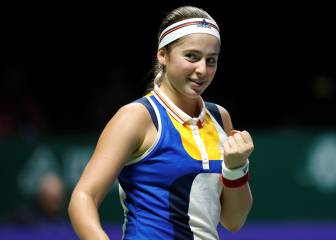Ostapenko bows out with victory over Pliskova