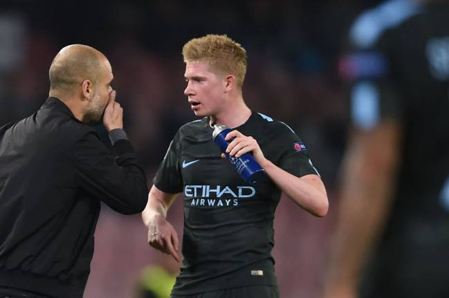 Manchester City's Spanish manager Pep Guardiola getting the best out of players like Kevin De Bruyne.