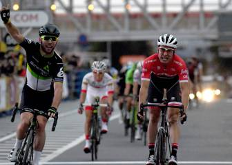 Cavendish edges Froome in scorching sprint finish in Tokyo