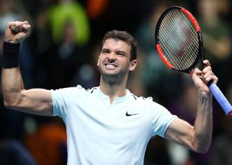 Dimitrov turns on the style to reach last four at ATP Finals