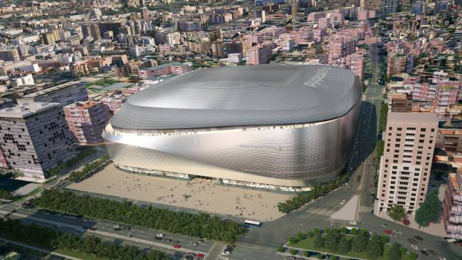 How the Bernabéu stadium will look after remodelling.