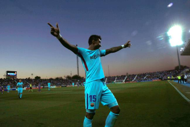 Luis Suárez returned to scoring form with a clinical brace at Butarque to extend Barça's lead at the top of LaLiga. Paulinho scored a third goal.