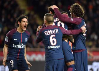 PSG win in Monaco and move nine points clear in Ligue 1