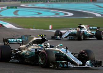 Bottas holds off Hamilton in Abu Dhabi GP