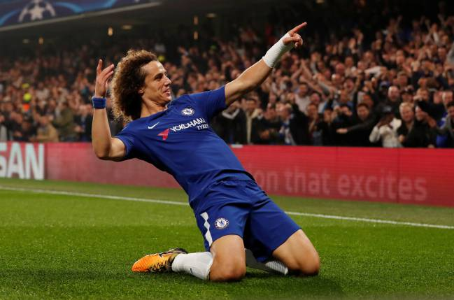 Bernabéu slide | could Los Blancos' fans soon be seeing Chelsea's David Luiz celebrate like this?