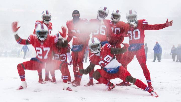 Buffalo Bills face Colts in the snow-filled NFL Sunday