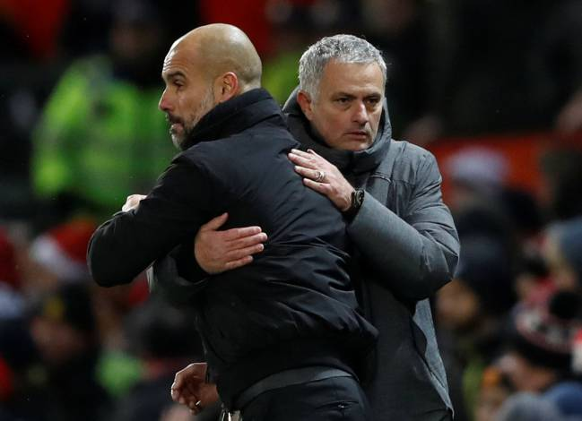 The Manchester City defended his players following the fracas that followed a crucial derby victory over Mourinho's Manchester United at Old Trafford.