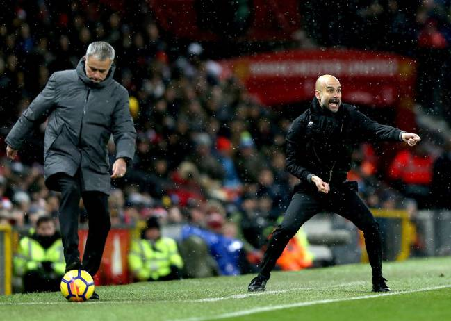 The Manchester City coach defended his players following the fracas that followed a crucial derby victory over Mourinho's Manchester United at Old Trafford.