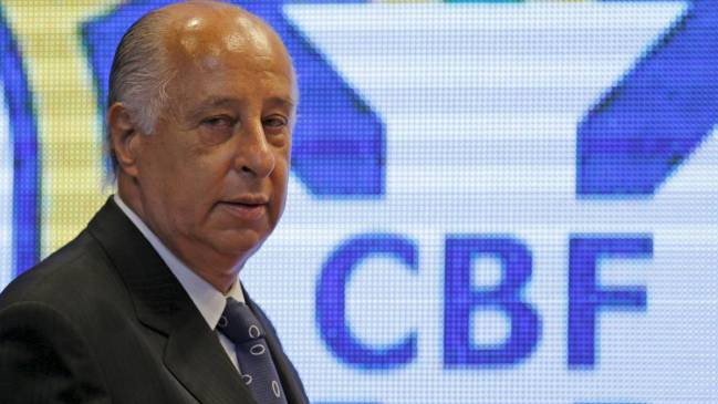 Brazilian football confederation (CBF) president Marco Polo Del Nero