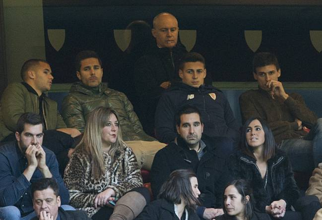 Kepa was watching from the stands as Athletic hosted La Real.
