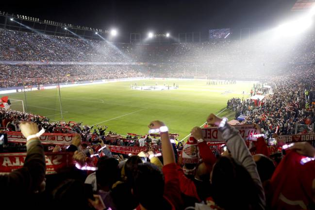 Liverpool fans visit the Estadio Ramon Sanchez Pizjuan.