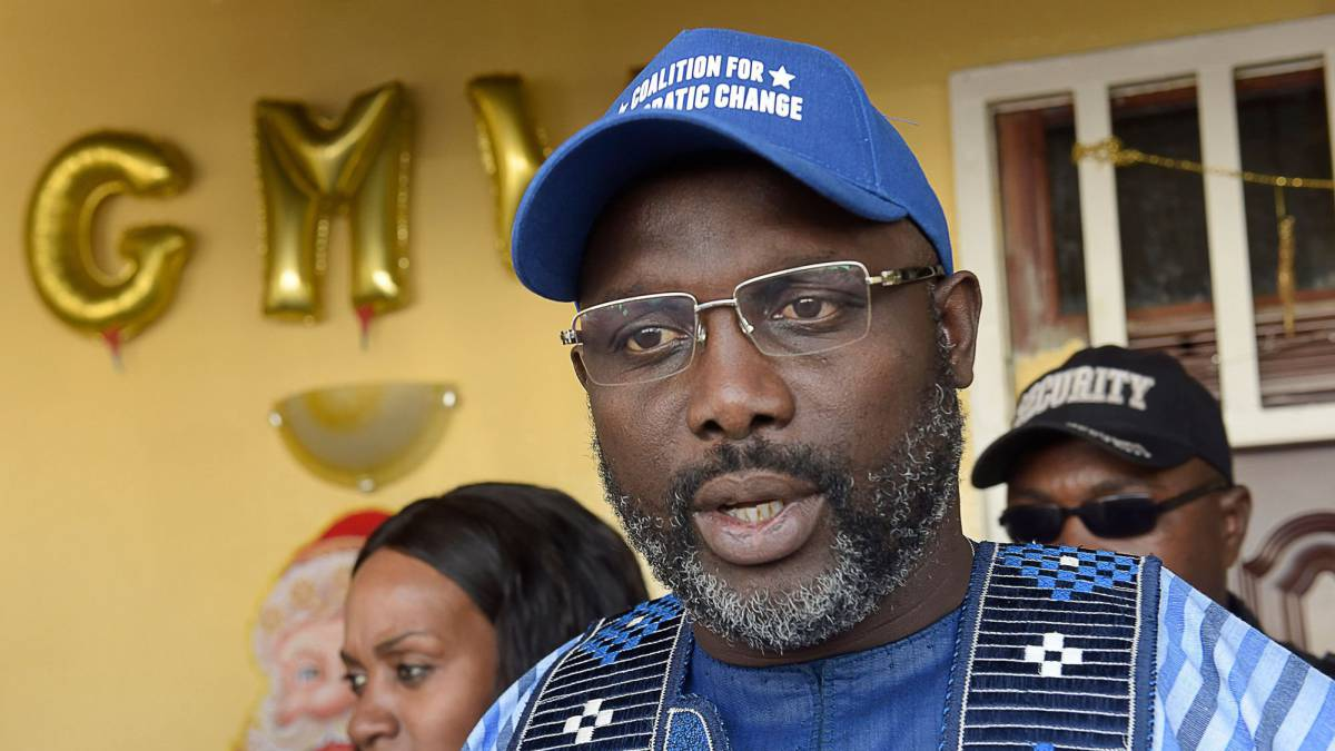 George Weah: ex-footballer who could be Liberia's next leader