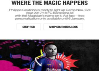 Nike slip-up in promoting personalized Coutinho Barça shirts