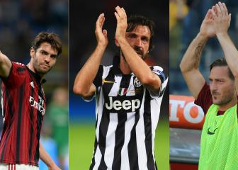 Kaka, Pirlo, Totti, Alonso: 2017's retiring football greats