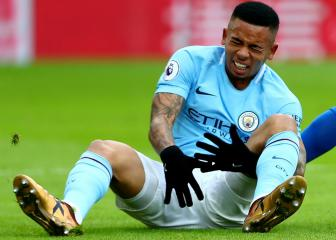 Gabriel Jesus out for four to six weeks, says Guardiola