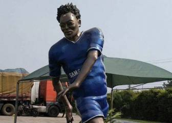Unsightly statue of Michael Essien erected in Ghana
