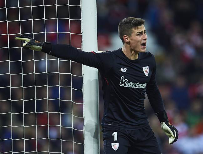 Madrid bound? Kepa Arrizabalaga in the shirt of Athletic Club de Bilbao.