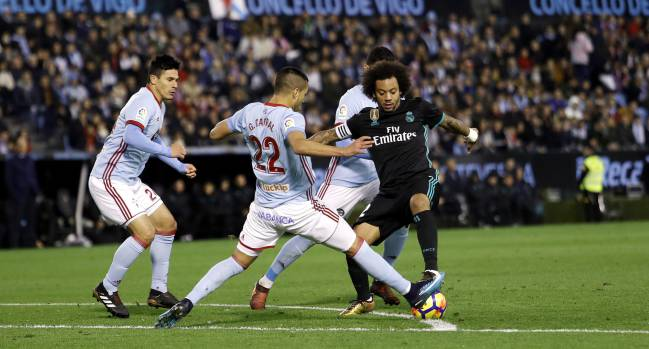 Real Madrid fell further behind Barcelona on week 18 after drawing against Celta Vigo. The Brazilian full-back struggled to explain their malaise.