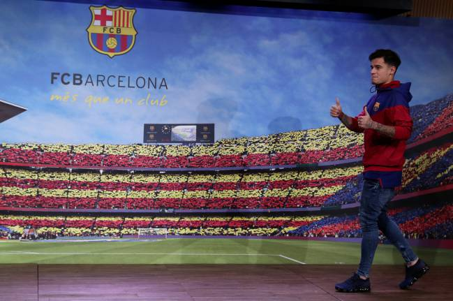 FC Barcelona present new signing Philippe Coutinho - Auditorium 1899, Barcelona, Spain - January 7, 2018.