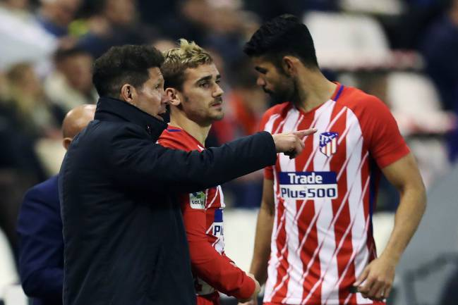 Diego Simeone, Antoine Griezmann and Diego Costa together. But for how long?