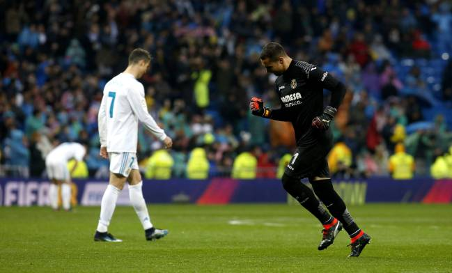 Asenjo delighted after Villarreal's victory over Real Madrid.