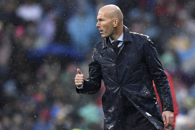 Real Madrid's French coach Zinedine Zidane is feeling the pressure this season.