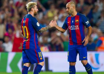 Messi and Xavi lead Mascherano tributes ahead of Barcelona exit